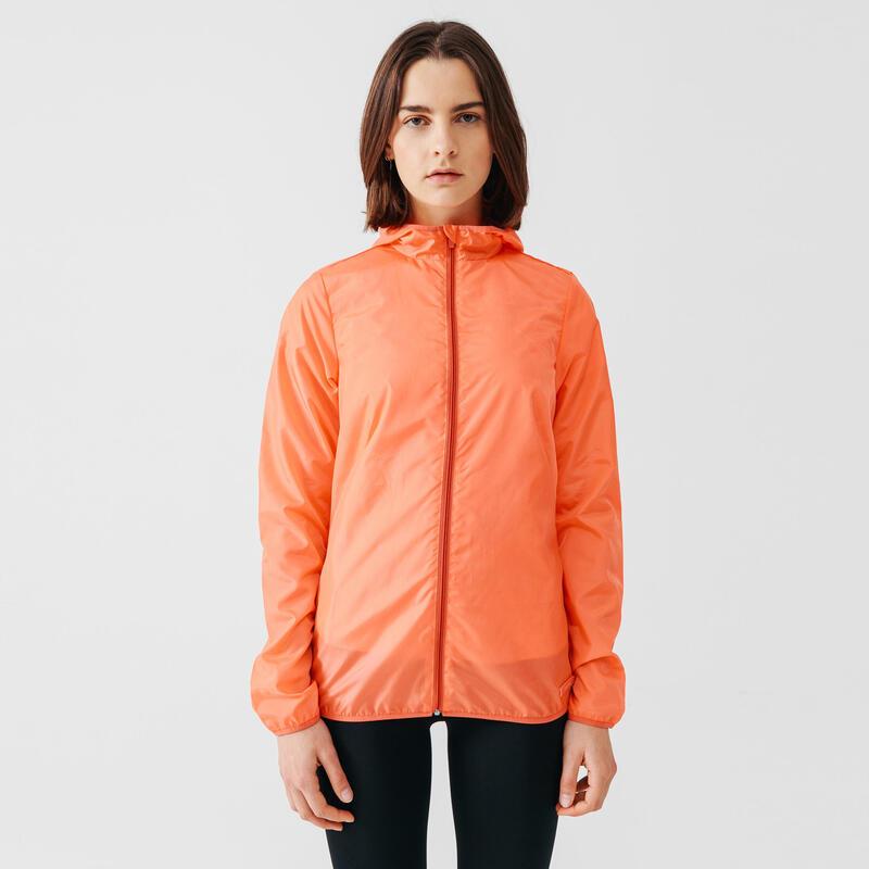 Rune Wind Women's Running Windbreaker Jacket - Coral