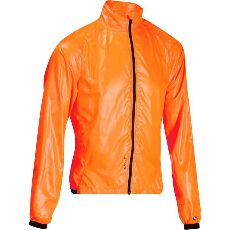 MEN ROAD WINDSTOPPER - 500 Ultralight Windproof Cycling Jacket - Orange VAN RYSEL