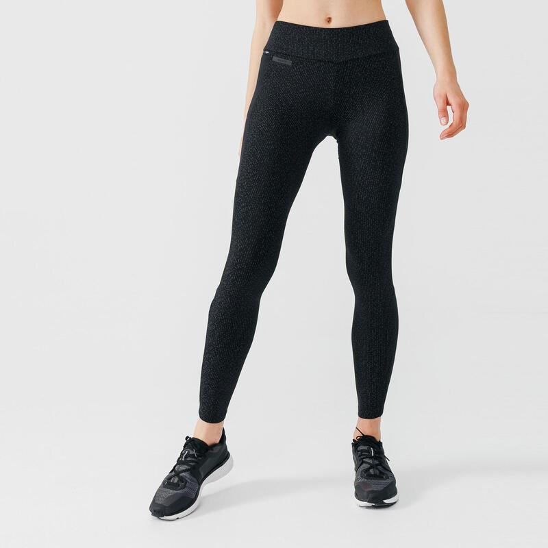 Legging de running long chaud femme - RunWarm + Night noir