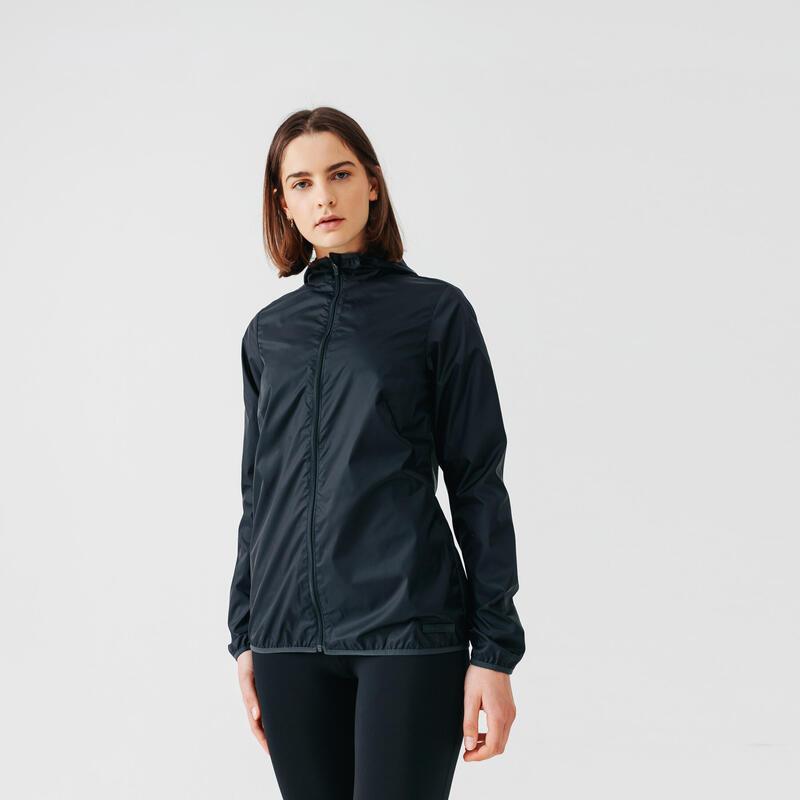 Run Wind Women's Running Windbreaker Jacket - Black