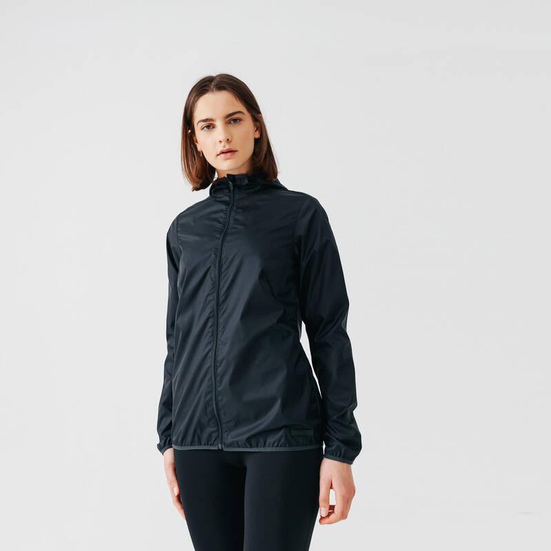 DÁMSKÉ OBLEČENÍ NA JOGGING DO VĚTRNÉHO POČASÍ Běh - BĚŽECKÁ BUNDA RUN WIND  KALENJI - Běžecké oblečení