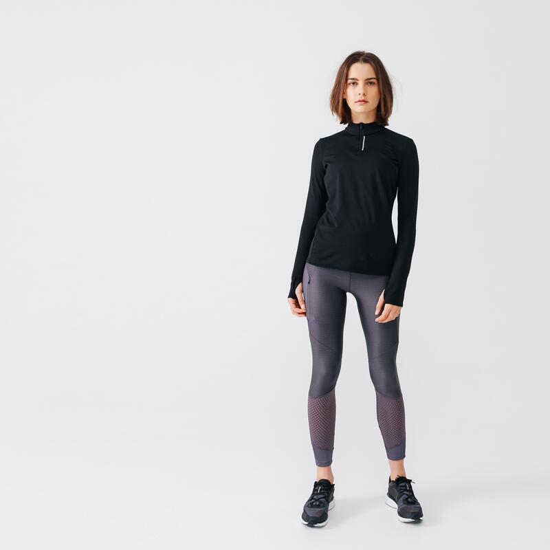 Run Warm Women's Running Long-Sleeved Jersey - Black