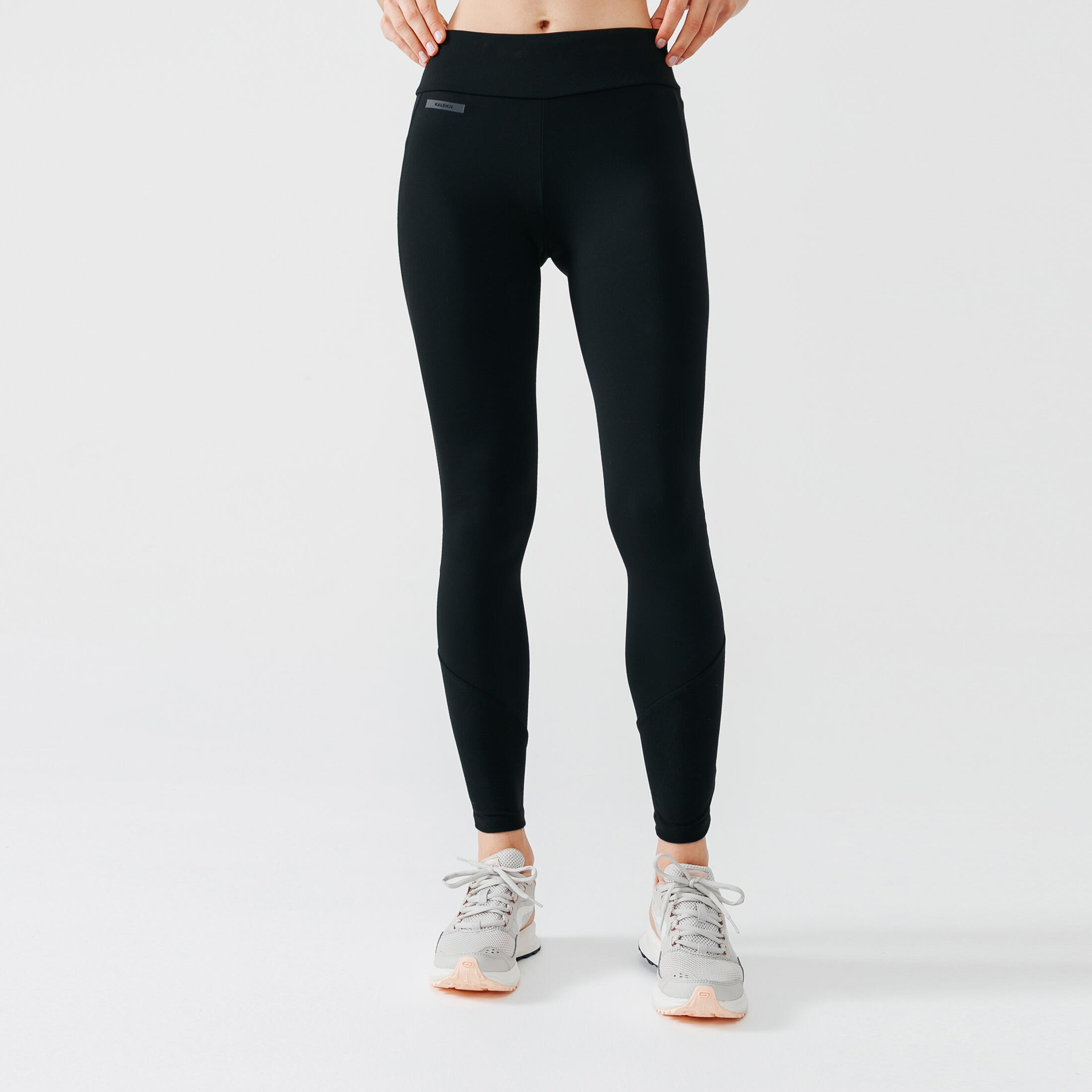 Run Warm Women'S Running Warm Tights - Black - UK18 / 2XL (L29) By KALENJI   Decathlon