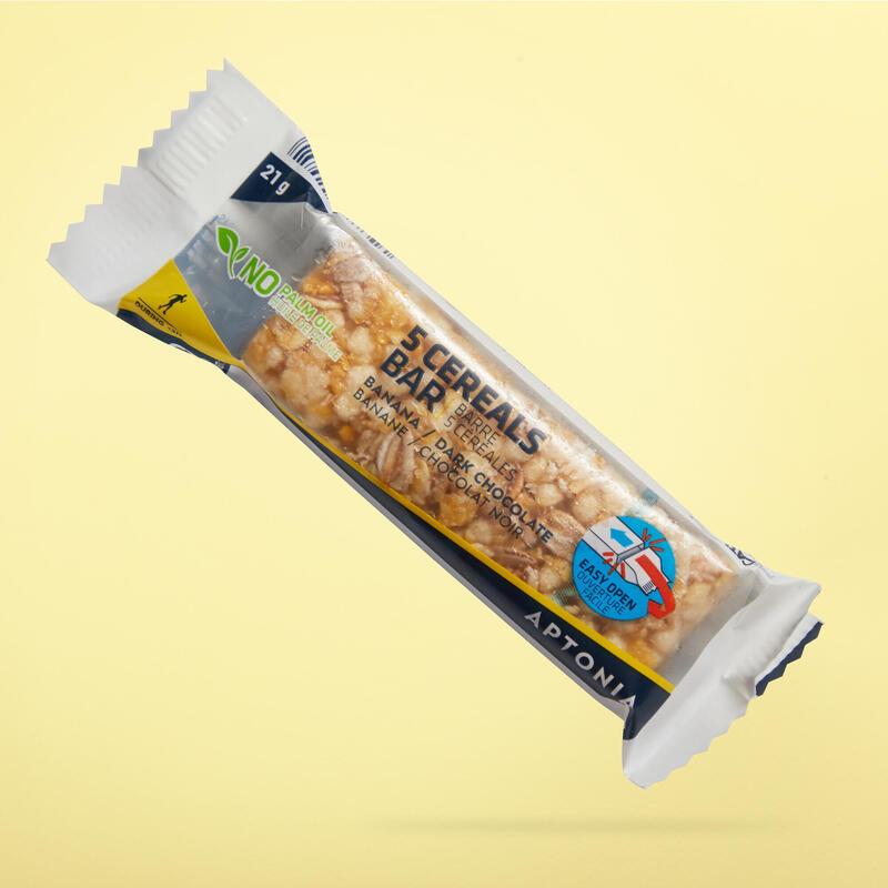Barra de cereais Clak de banana com uma camada de chocolate negro 21g
