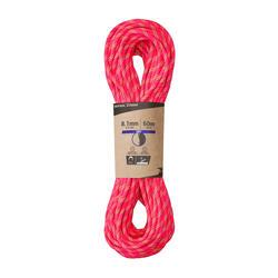 Corda Dupla de Escalada e Alpinismo Rappel 8,1mm x 60m Dry Rosa