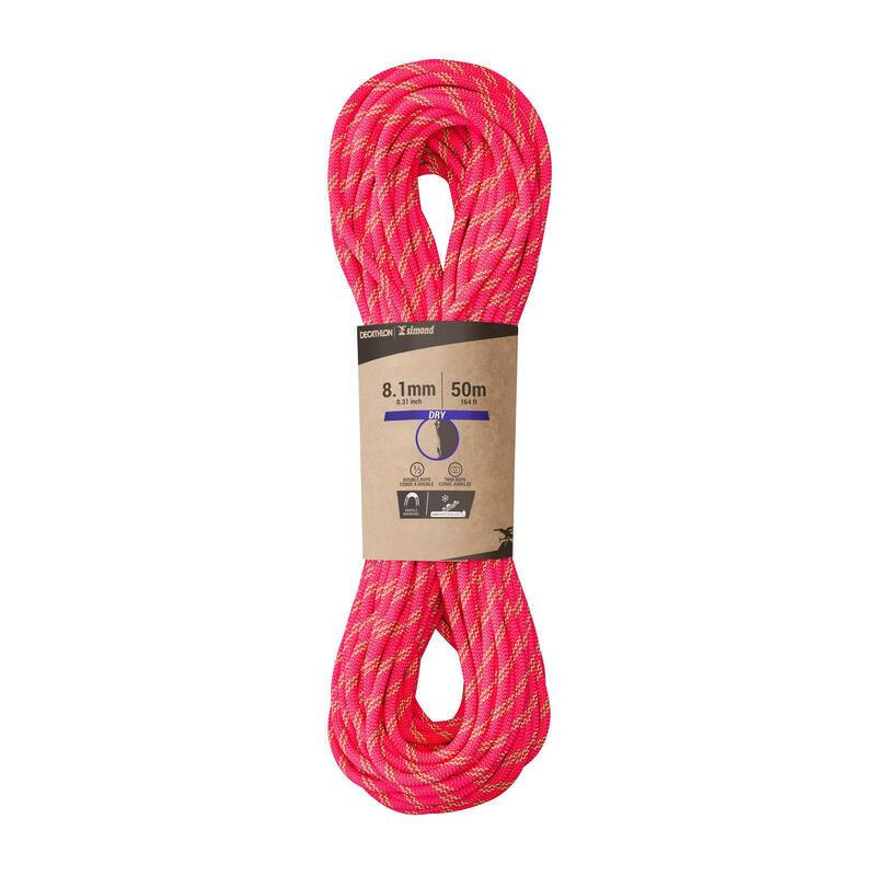 Horolezecké poloviční a dvojité lano Rappel 8,1 mm × 50 m růžové