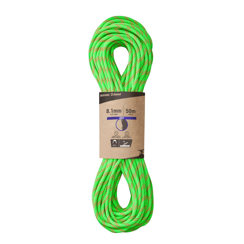 Horolezecké poloviční a dvojité lano Rappel 8,1 mm × 50 m zelené