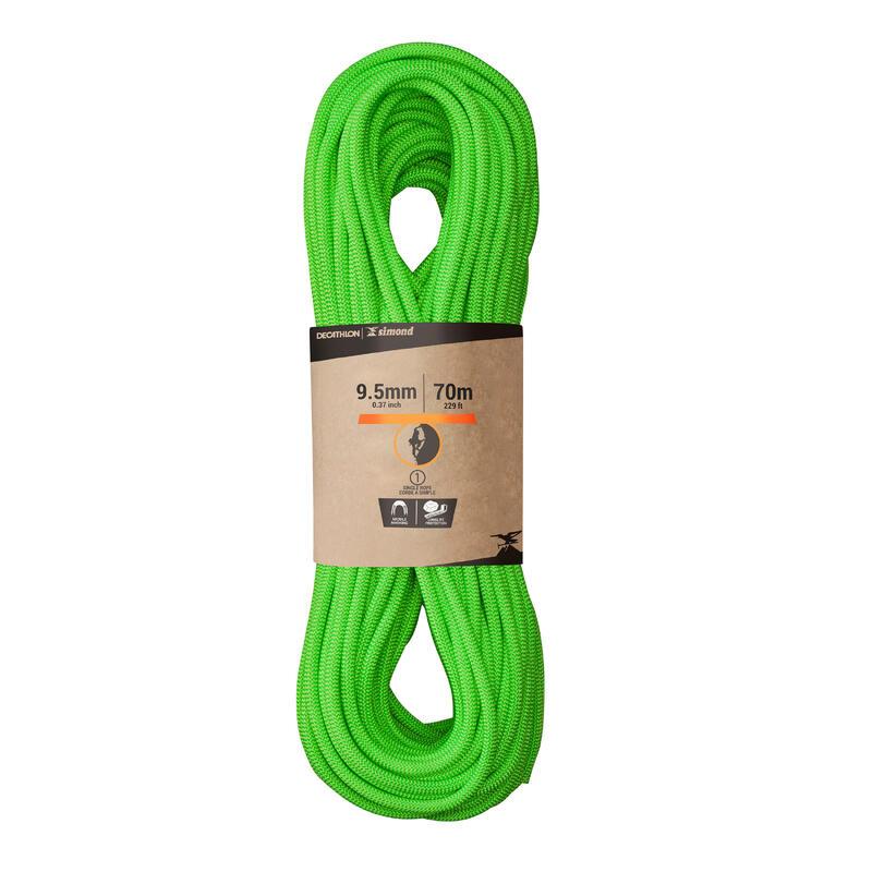 Tırmanış İpi - 9,5 mm X 70 m - Yeşil - Cliff