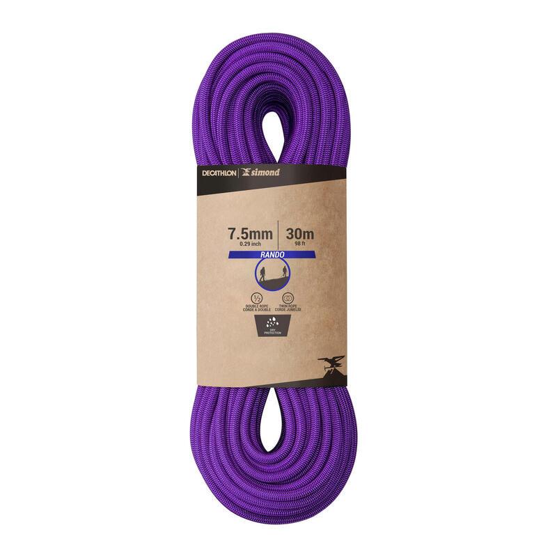 CUERDA EN DOBLE DRY 7.5 mm x 30 m - RANDO DRY violeta