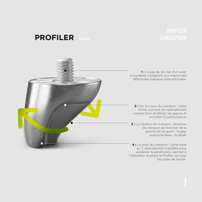 18mm Aluminium Screw-In Rugby Studs Smartpower