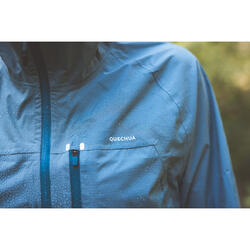 Women's Jacket FH 500 Rain - Blue