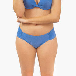 Cueca Bikini Brasil Franzida Azul Mulher