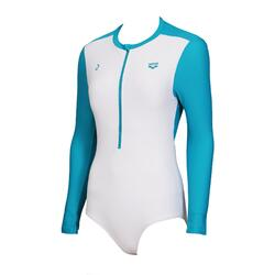 Arena Long-Sleeve 1-Piece Swimsuit with front zip (Decathlon Exclusive) - White