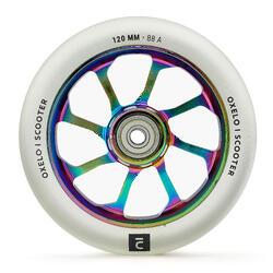 Roda de Trotinete Freestyle Core Alumínio Neochrome PU 120 mm Transparente