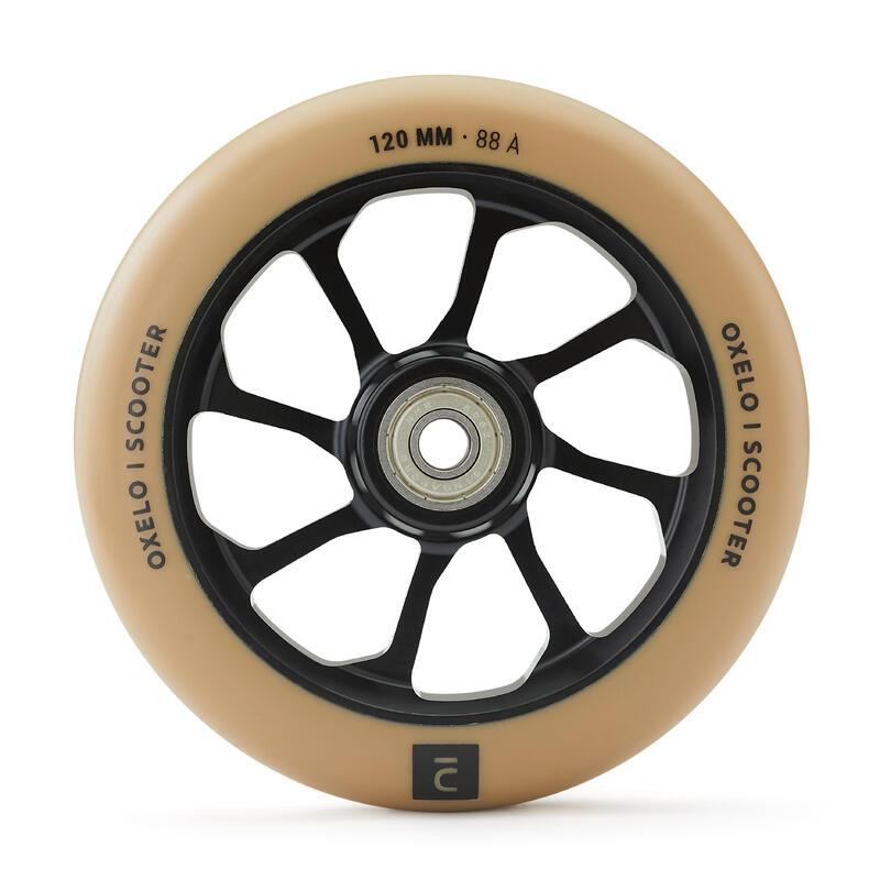 """""""Alu Core"""" PU sportinio paspirtuko ratukas, 120 mm, juodas / smėlio splavos"""