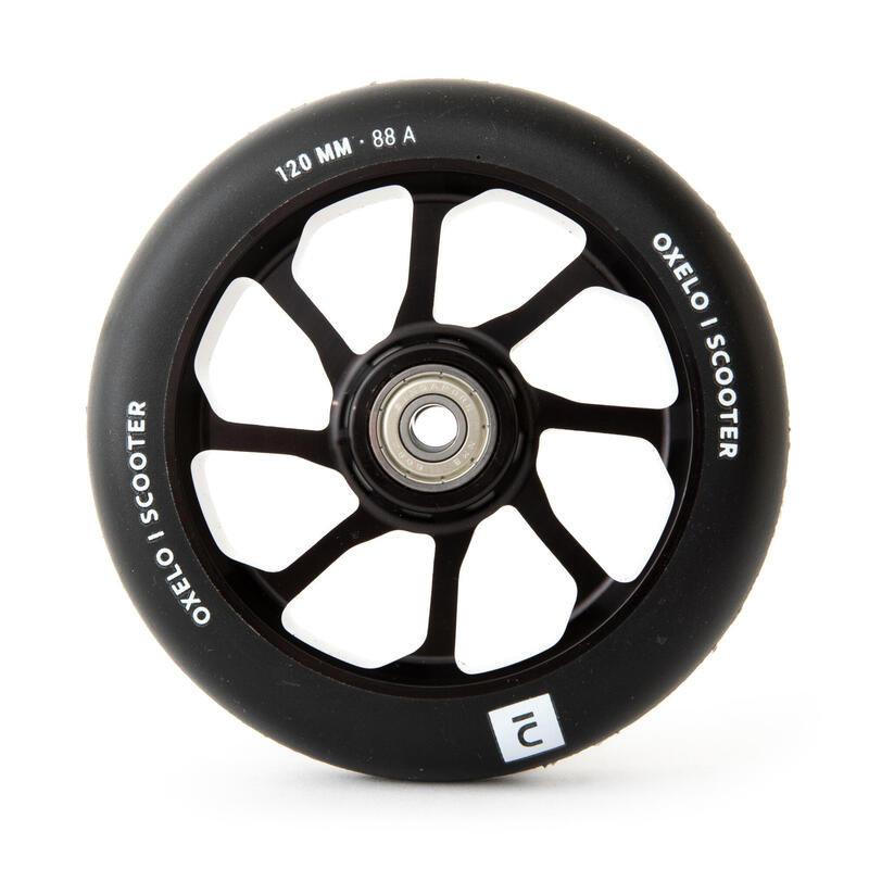 Roue trottinette freestyle core alu noir PU noir 120 mm