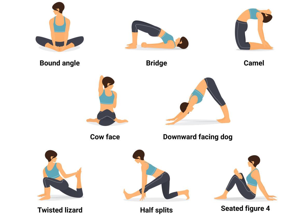 yoga posture for cyclists