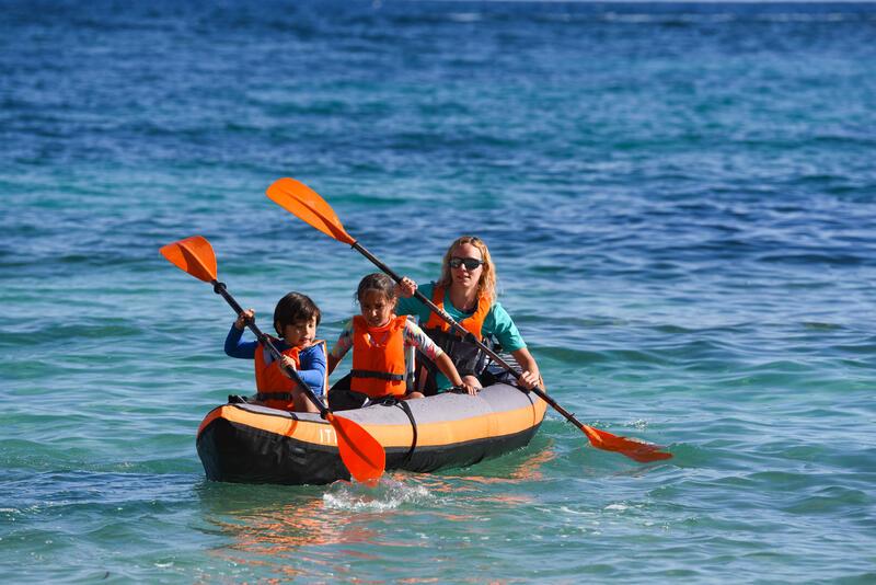 Inflatable Cruising Kayak 3-Seater - Orange