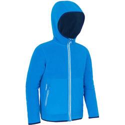 兒童款保暖雙面航海刷毛外套500-海軍藍