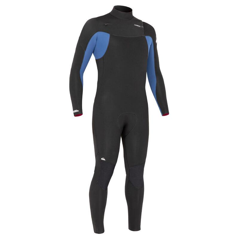 Combinezon surf Quiksilver 4/3 mm Negru-Albastru Bărbați