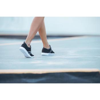 Chaussures marche sportive femme Soft 140 Mesh noir