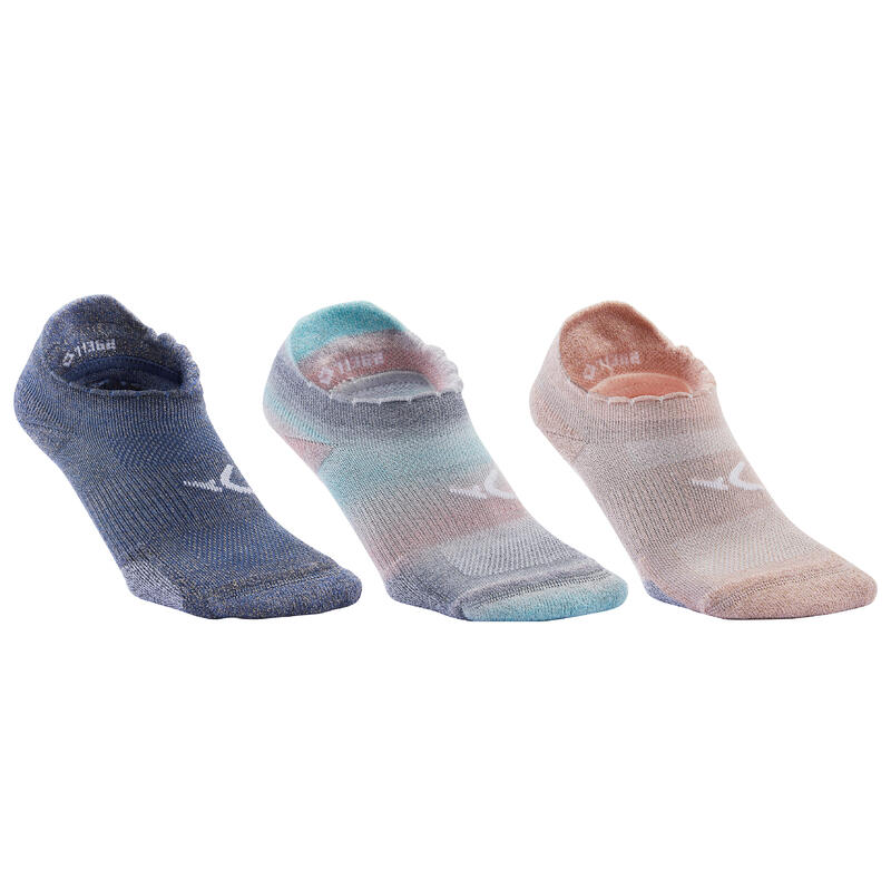 Calcetines invisibles de fitness con efecto brillante