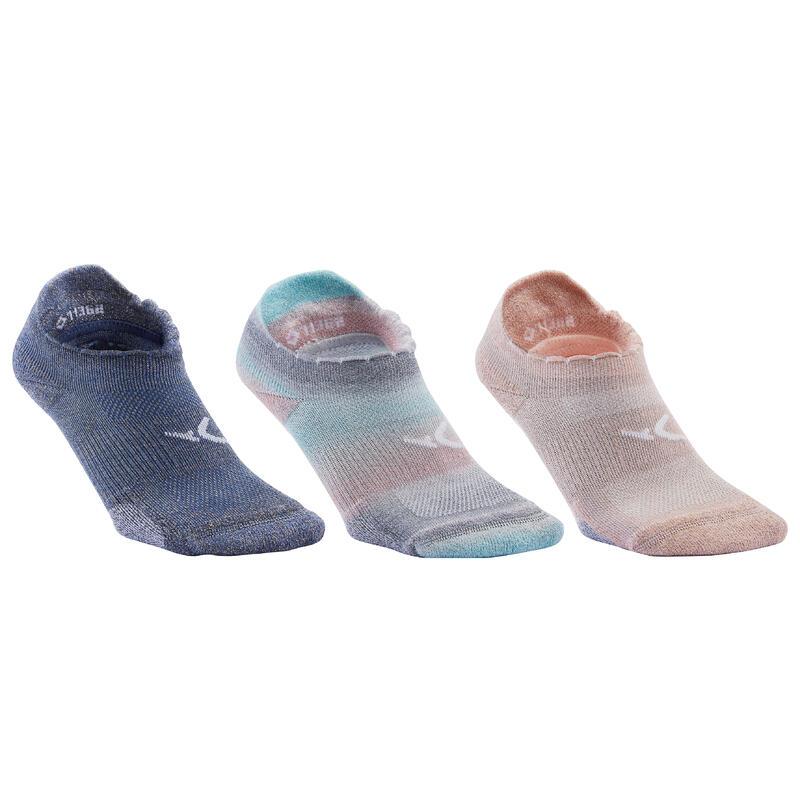 Chaussettes invisibles de fitness à effet pailleté