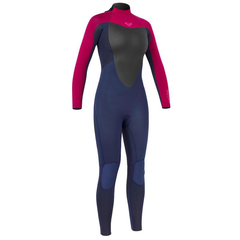 Neopreno Surf Roxy Prologue Mujer Azul Oscuro/Borgoña 4/3mm