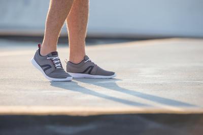Tenis para marcha activa hombre Soft 140 gris / azul