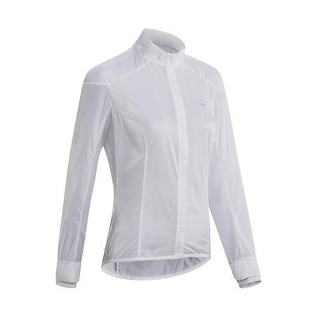 Women's Cycling Windproof Jacket Ultralight - White