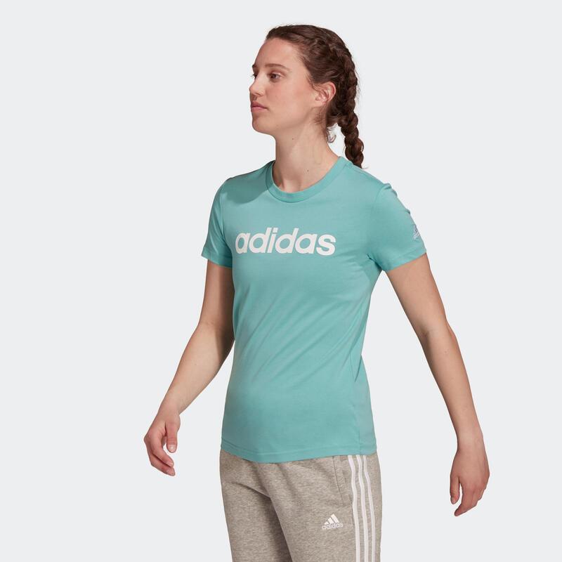 T-shirt de Ginástica e Pilates Adidas Mulher Verde