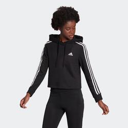 Felpa con cappuccio donna Adidas nera