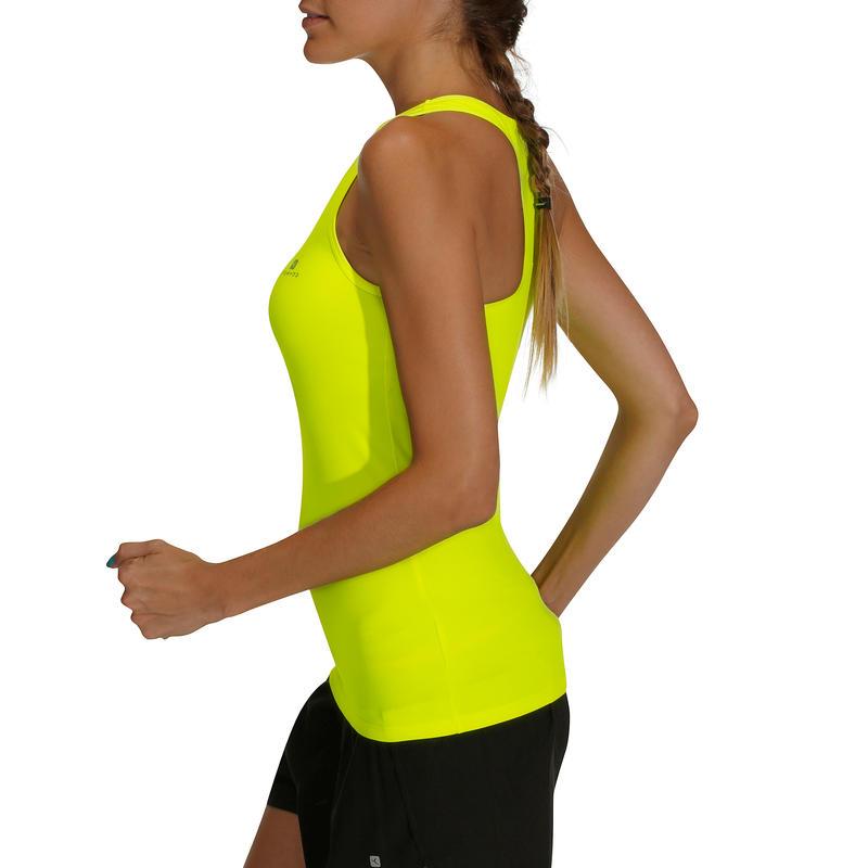 Women's Quick-Dry Fitness Tank Top - Neon Yellow