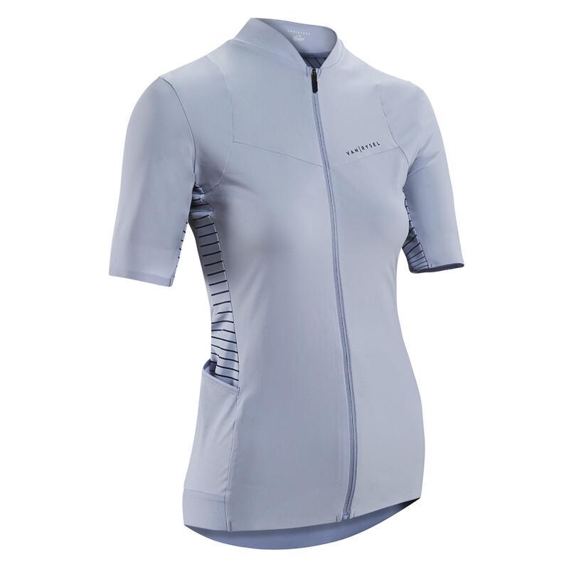 Fietsshirt met korte mouwen voor dames Racer lavendel