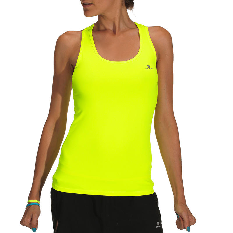 Women's Cardio Fitness/Gym Training Tank Top - Neon Yellow