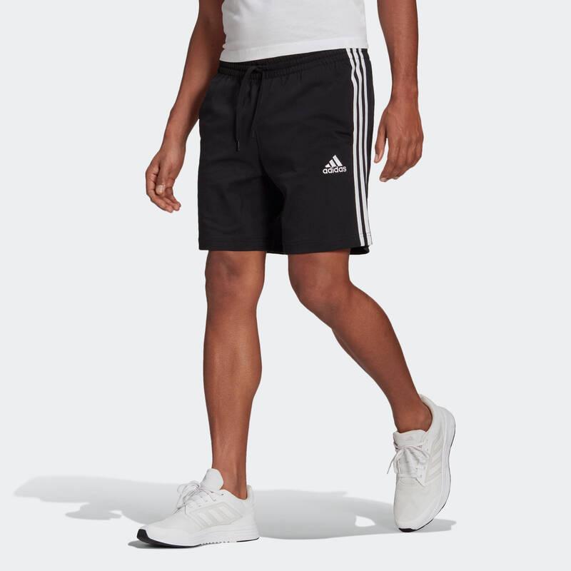 PÁNSKÁ TRIČKA, KRAŤASY Fitness - PÁNSKÉ KRAŤASY ČERNÉ ADIDAS ADIDAS - Fitness oblečení a boty