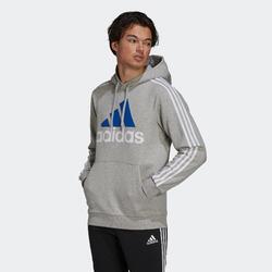 Felpa con cappuccio uomo Adidas grigia