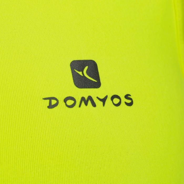 Camiseta sin mangas MY TOP fitness cardio-training mujer amarillo fluo 100