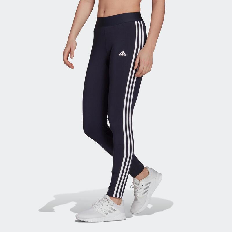 Legging fitness long coton majoritaire taille haute femme - blanc