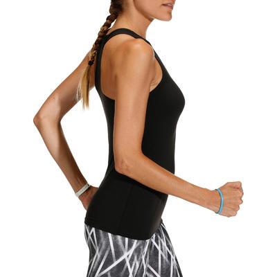 100 Women's Fitness Cardio Training Tank Top - Black