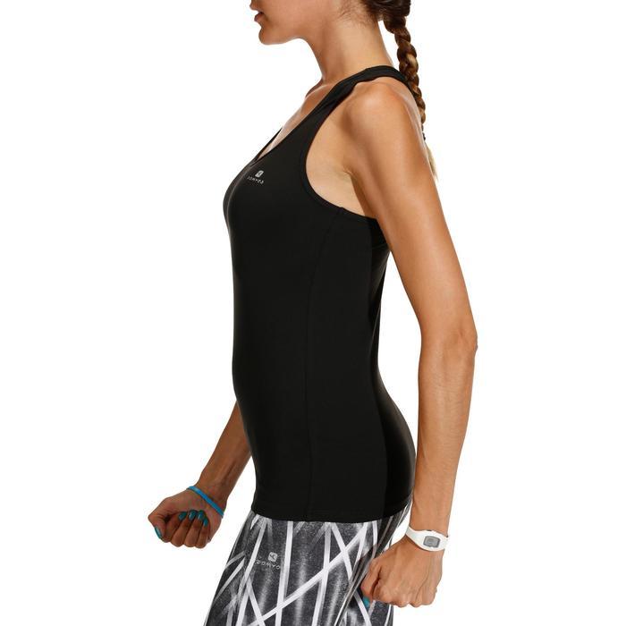 Débardeur cardio fitness femme noir 100