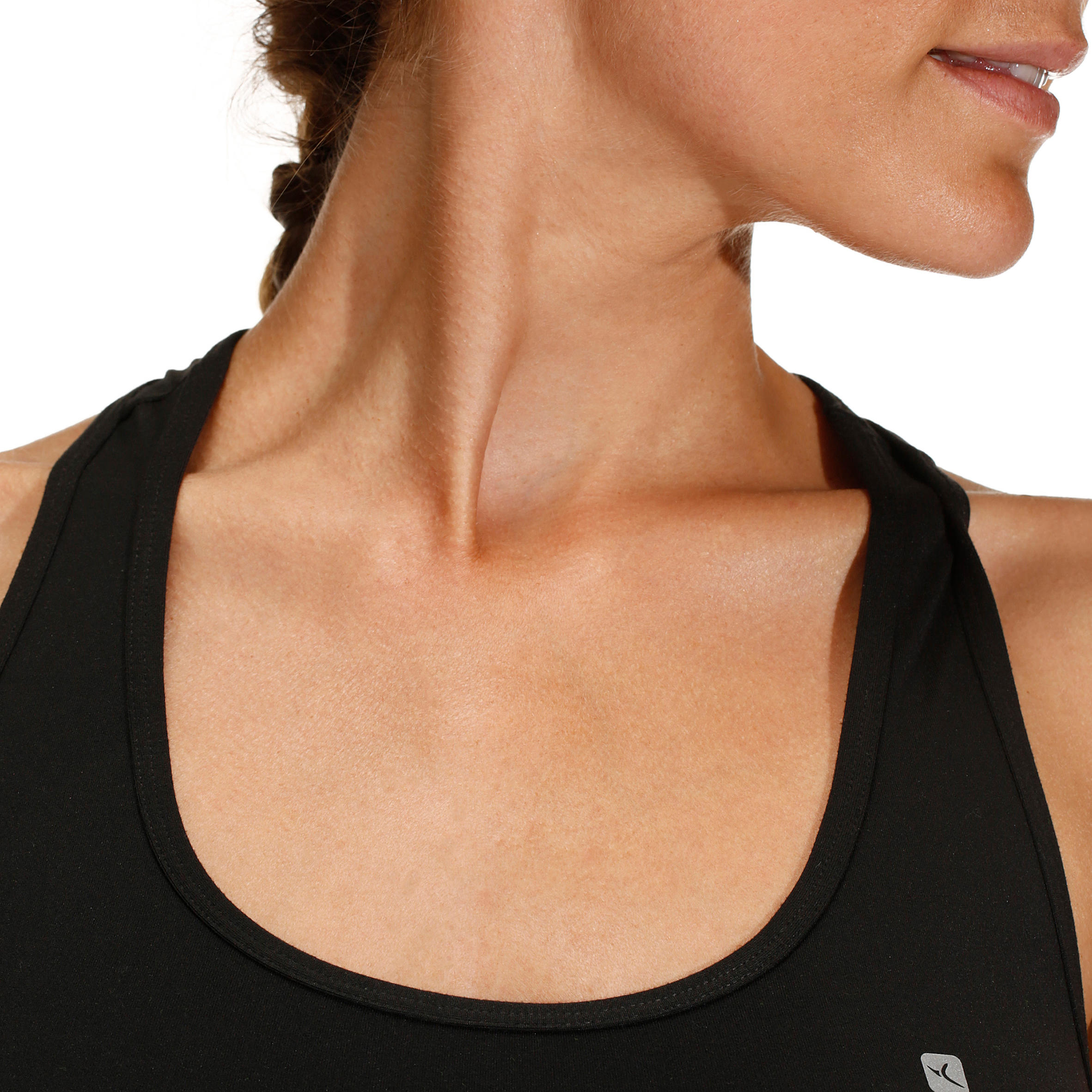 100 Women's Cardio Fitness Tank Top - Black