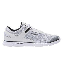 Chaussures marche urbaine femme Soft 540 blanc moucheté
