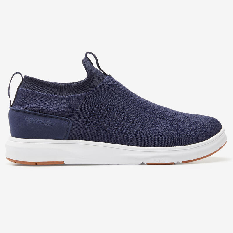 Chaussures marche urbaine homme Slip On Knit bleu