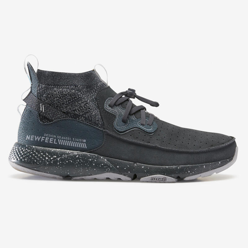 ACTIWALK 500 Men's Leather Urban Walking Shoes - Black