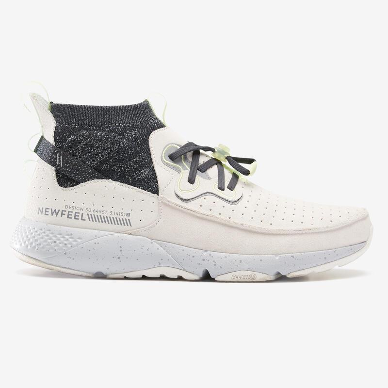 ACTIWALK 500 Men's Leather Urban Walking Shoes - Cream