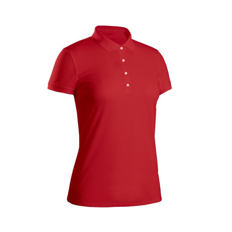 Polo golf donna light 500 rossa