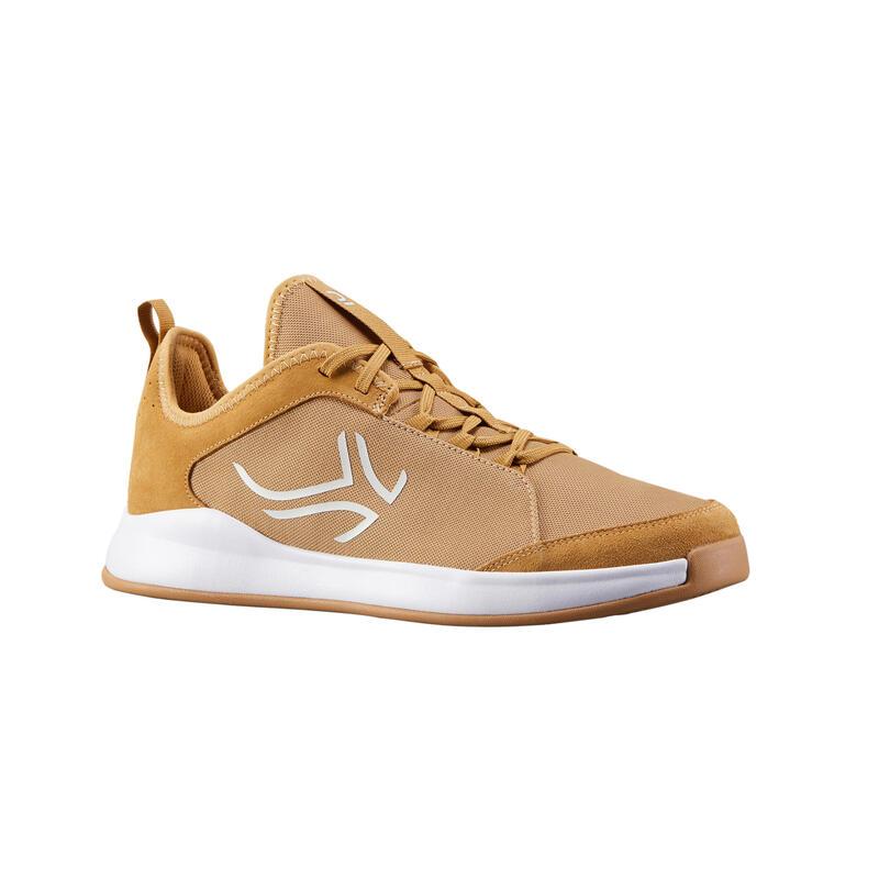Tennisschoenen voor heren TS130 multicourt camel