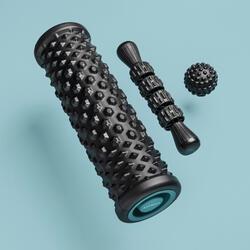 肌肉放鬆按摩工具組:按摩組:按摩滾筒/泡棉滾筒、按摩球、按摩滾輪棒