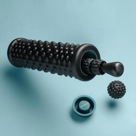 Masažo rinkinys: masažo volelis / putplasčio volelis, kamuoliukas, masažo lazda